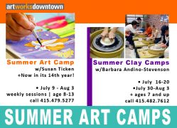 July + August Art Camps still have space!