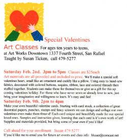 Valentine's Day Art Classes for Kids + Teens
