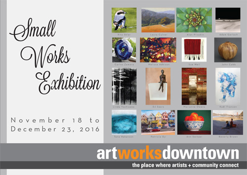 Small Works 2016 postcard