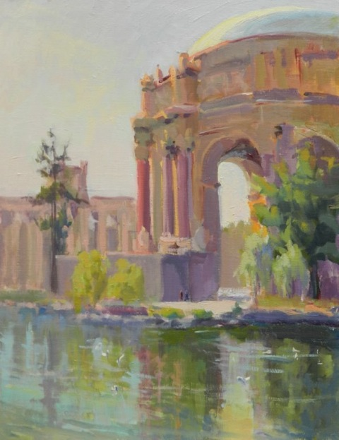 Palace of Fine Art, oil on linen, Dorallen Davis